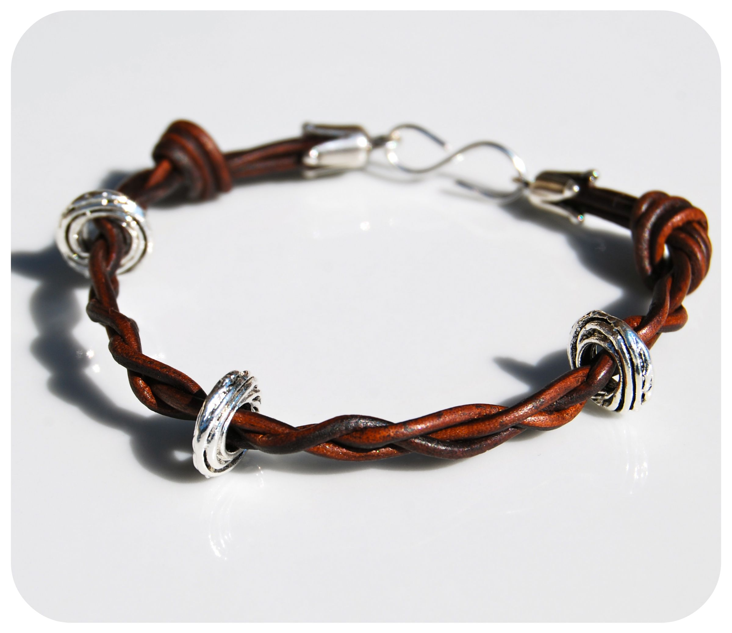 leather cord bracelets make bracelets